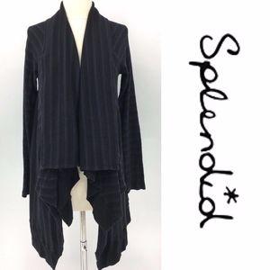 Splendid Striped Drape Cardigan
